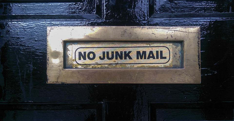 this image shows junk mail where your cold email will go if you are not careful